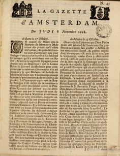 La gazette d'Amsterdam - 8 Nov. 1668