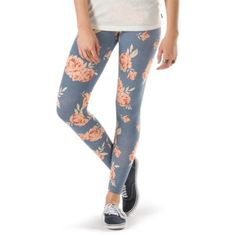"""The Roses Yoshimi Legging, made of 95% cotton and 5% elastane, is a legging with an all-over roses print. Model is 5'9"""" and wearing a size M"""