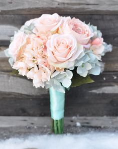 Holly's Flower Shoppe ships forever wedding bouquets worldwide on Etsy.