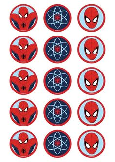 Spiderman Edible Cupcake Images