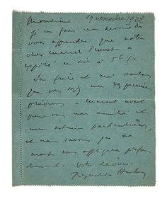 [MARCEL PROUST] REYNALDO HAHN. L.A.S. A JACQUES RIVIERE Sans date [18 novembre 1922] 1p. in-12 à l'encre noire sur carte pneumatiqu...  Announcing death of Marcel Proust