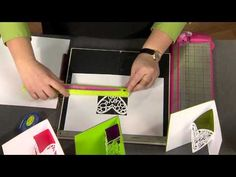 302-1 Scrapbook Soup host Julie Fei-Fan Balzer shows how to create lacy pop up cards - YouTube