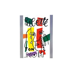 Liberte - J'ecris ton Nom, 1953 Giclee Print Wall Art (25.700 CLP) ❤ liked on Polyvore featuring home, home decor, wall art, giclee wall art and giclee poster
