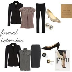 In case your curious, formal interview attire advice from my favorite fashion blog!