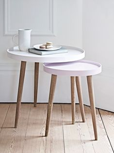 pastel and blush pink side tables cox and cox