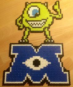 Mike från Monsters inc på logo. Hama/Nabbi pärlor.