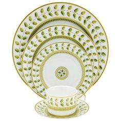 Always have loved this pattern, may need the salad plates to mix with existing china. Bernardaud - Constance