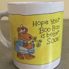 Wallace Berrie Mug Get Well Applause The Card Mug Hospital Humor Vintage