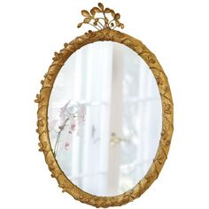 Strawberry Jewel Oval Mirror 23.5x30.5 (¥131,400) ❤ liked on Polyvore featuring home, home decor, mirrors, decor, mirror, oval mirror and jeweled mirror