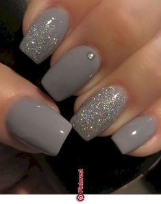 10 Best Grey Nail Polishes Awesome gray nail polish to try Related Perfekte und herausragende Nageldesigns pro den Winter Cute Nail Designs & Looks for 2019 Grey Nail Polish, Gray Nails, Pink Nails, Color Nails, Glitter Nail Polish, Gray Nail Art, Nail Black, Zebra Nails, Classy Nail Art