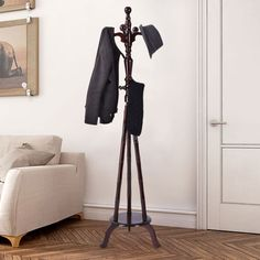 15d9c74899e Free Standing Solid Wood Coat Hat Purse Hanger Tree Stand Rack Furniture  Home Furniture