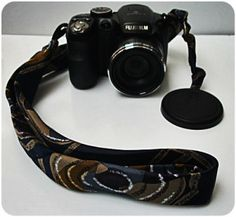 Fancy up that boring camera holder with The 10 minute diy camera strap - a groovy necktie refashion!