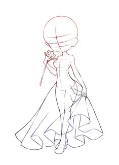 Chibi dress + rose