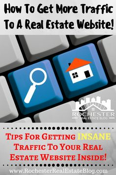 One goal of a real estate website is to get web traffic. Traffic equals leads! Find out the best tips for getting web traffic to a real estate website here! http://www.rochesterrealestateblog.com/get-web-traffic-real-estate-website-blog/ via @KyleHiscockRE