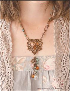 Necklace by Melinda Barnett Featured in Jewelry Affaire magazine