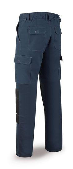 c522e3c9844 588-PSTA Vestuario Laboral Pro Series Pantalón ELÁSTICO, algodón y  elastano. Color Azul