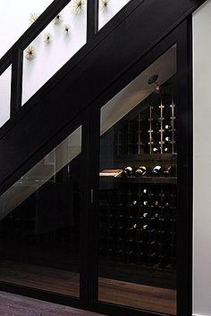 under stairs wine cupboard