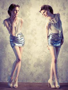 ...dewdrops (by Seam -fashion design- Sibylle kuhn-lanz) http://lookbook.nu/look/3720899-dewdrops