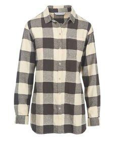 Woolrich Oxbow Bend Tunic Flannel Shirt Jac - Women's, Size: XS, Wool Cream Buffalo