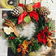 #christmaswreath #handmade #wreath #christmas Готовимся к Рождеству