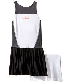 adidas Kids Stella McCartney Barricade Dress (Little Kids/Big Kids) White/Dark Grey Heather Solid Grey - Zappos.com Free Shipping BOTH Ways