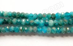 """Apatite w Brown HK Natural AAA - Small Faceted Rondel 16"""""""