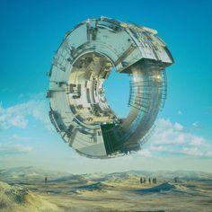 Incredible Illustrations by Beeple Fantasy World, Fantasy Art, Science Fiction Kunst, 3d Cinema, Sci Fi City, Sci Fi Environment, Futuristic Art, Illustration, Design Competitions