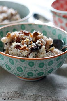 Slow Cooker Coconut Almond Rice Pudding from With Style and Grace; this delicious-sounding rice pudding uses coconut milk so it's dairy-free and with gluten-free oats the recipe is also gluten-free. [Featured on SlowCookerFromScr...]
