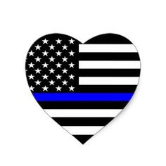 Heart thin blue line inches flag honoring our men & women of law enforcement and Fire Fighters USA america Flag symbol sticker decal die cut vinyl - Made and Shipped in USA Police Stickers, Bumper Stickers, Custom Stickers, Thin Blue Line Flag, Thin Blue Lines, Back The Blue Decal, Back The Blue Flag, Police Flag, Police Officer Crafts