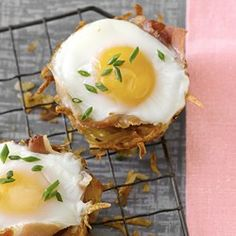 Baked Eggs in Prosciutto-Hash Brown Cups - EatingWell.com