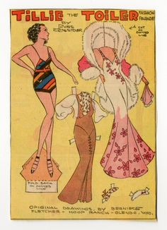 78.2325: Tillie the Toiler-Yvonne | paper doll | Paper Dolls | Dolls | National Museum of Play Online Collections | The Strong