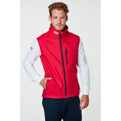 CREW VEST A lightweight stylish sailing vest for men on windy summer days.