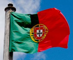 Flag of Portugal Portugal Flag, Visit Portugal, Spain And Portugal, Portuguese Flag, Learn Portuguese, Algarve, Mein Land, Black History Books, Flags Of The World
