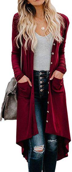 Benlet Women Fashion Casual Long Sleeve Loose Asymmetrical Turtleneck Cardigan Sweater Sweaters