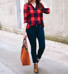 camisa-cuadro Plaid Shirt Outfits, Cute Casual Outfits, Flannel Shirt, Casual Shirt, Fall Winter Outfits, Autumn Winter Fashion, Mode Outfits, Fashion Outfits, Looks Style