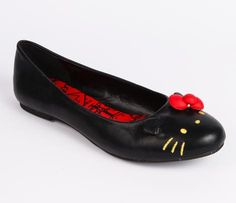 Hello Kitty Indoor Slippers: Red Bow
