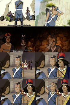 LOL Sokka and the clueless hippie-band they run into