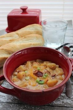 Slow Cooker Potato and Bacon Soup from Thrifty & Thriving
