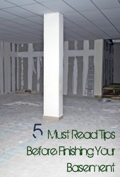 5 Tips to Finishing Your Basement & check with your local building department to see what permits are required.
