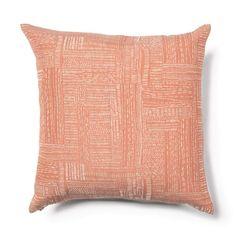 Reversible Sashiko Stitch Pillow in Tangerine