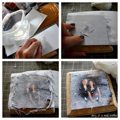 Transferring A Photo Onto Wood: A Tutorial I'd heard of transferring photos to canvas, but never to wood. So when I came across this pin, the other day, I just HAD to try it out! This project was so much fun! Picture Onto Wood, Picture Transfer To Wood, Canvas Photo Transfer, Wood Image Transfer, Picture On Wood Diy, Crafts To Make, Fun Crafts, Arts And Crafts, Diy Holz