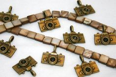 CAMERA CHARMS (6) PENDENTS charm pendent. $3.00, via Etsy.