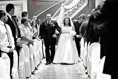 The bride & her father during the processional in our Grand Ballroom / Mendenhall Inn Wedding