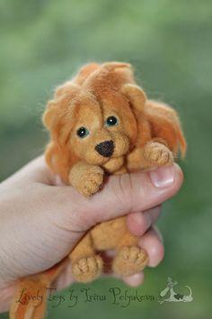 Needle felted lion cub by Irina Polyakova.