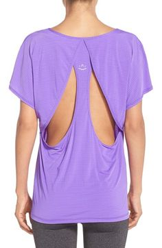 Free shipping and returns on Beyond Yoga Open Back Tee at Nordstrom.com. Back cutouts enhance the breezy style of a short-sleeve tee cut from a soft and stretchy blend of fabrics.
