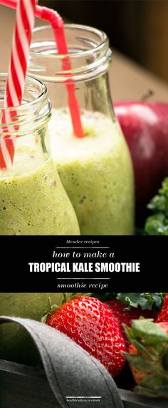 Want to try a smoothie that will change the way you think about kale? You'll be shocked by how sweet and delicious this smoothie is even though in contains a hefty serving of kale. Click through to find out for yourself!  #superfood