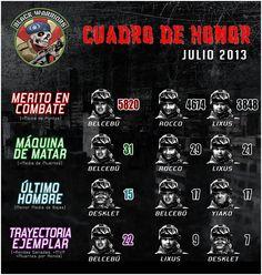 Cuadro honor Bwarriors BF3