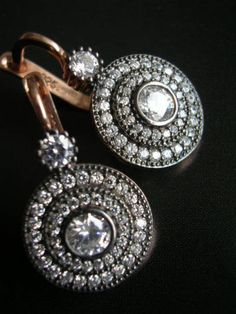 Hollywood era inspired earring sparkly chic diamond by FIGistanbul