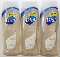 Dial Natural Radiance Body Wash White Tea Amp