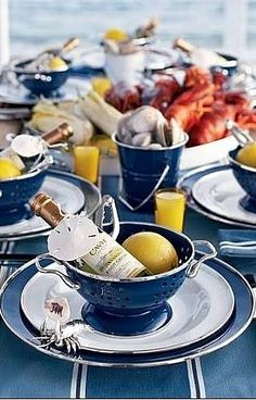 New ideas seafood party decorations table settings lobster bake Lobster Party, Lobster Boil, Lobster Dinner, Lobster Feast, Crab Feast, Seafood Boil Party, Seafood Broil, Seafood Bake, Seafood Dinner